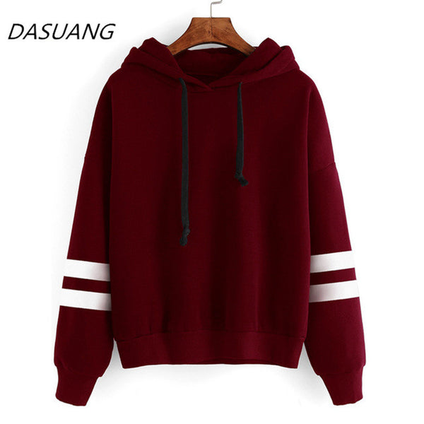 Dasuang 2019 Autumn Women Hoodie Casual Long Sleeve Hooded Pullover Sweat-shirts Hooded Female Jumper Women Tracksuits Sportswear - elatestore