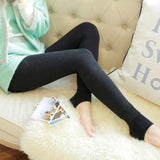 Women Warm High Waist Thicken High Elastic Velvet Leggings-elatestore-elatestore