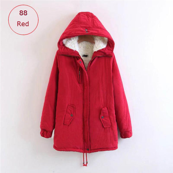 womens red down coat