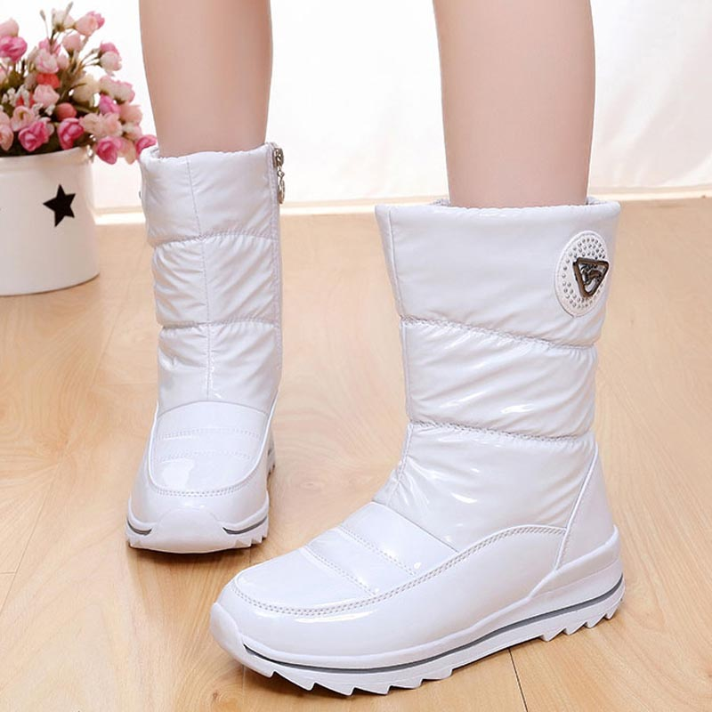 b50dc2eab38 Women Warm Snow Boots Waterproof Thick Fur Winter Shoes Mujer