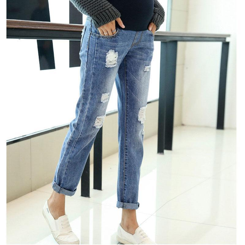 56fe26b32682a Jeans Maternity Clothing Pants For Pregnant Women Clothes Nursing Trousers  Pregnancy Overalls Denim Long Prop Belly Legging