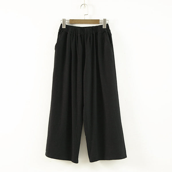 Women Soft Wide Leg Pants Elastic High Waist Loose Trouser-elatestore-elatestore