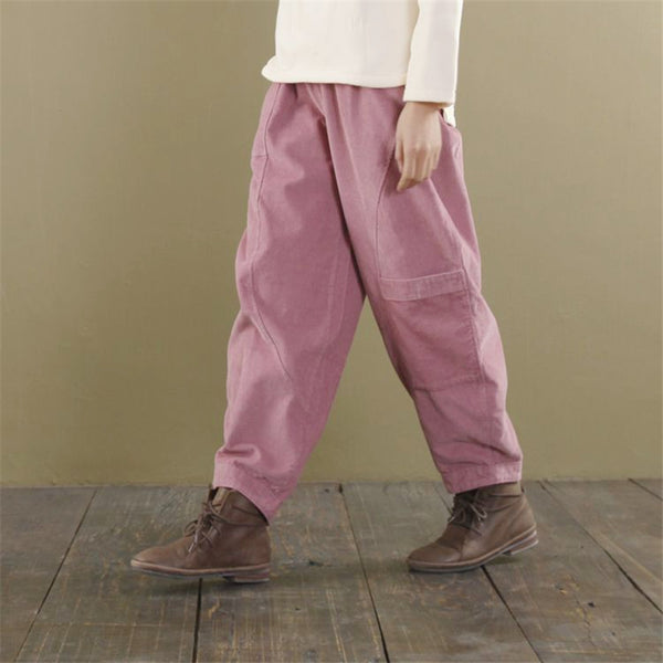 Maria Casual Wide Leg Pants Loose Corduroy Trouser