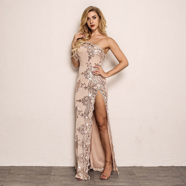 bff6f26efe Joy Strapless Sexy Sequin Floral Maxi Party Dress ...