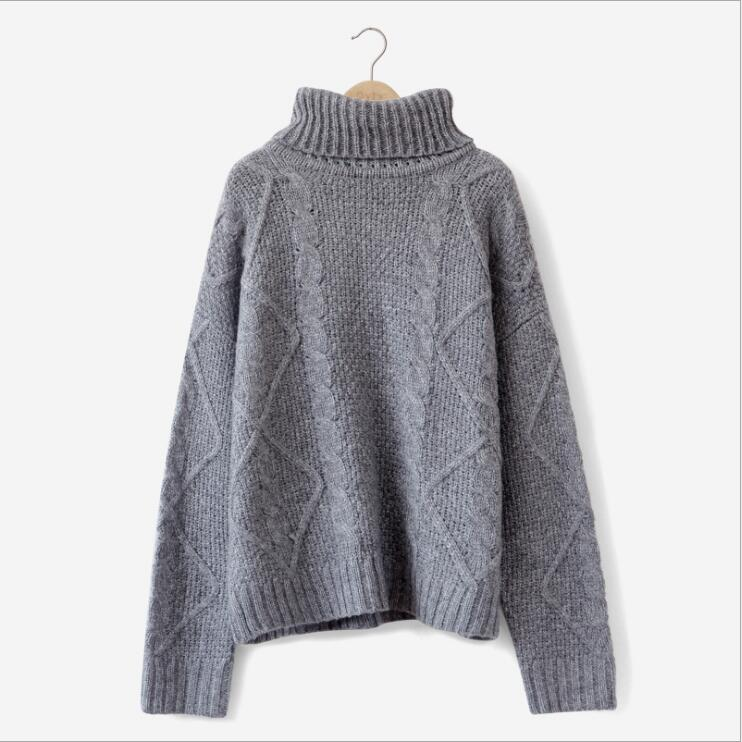 498c71e061e Women s Winter Sweater Loose Turtleneck Warm Pullover-elatestore -elatestore