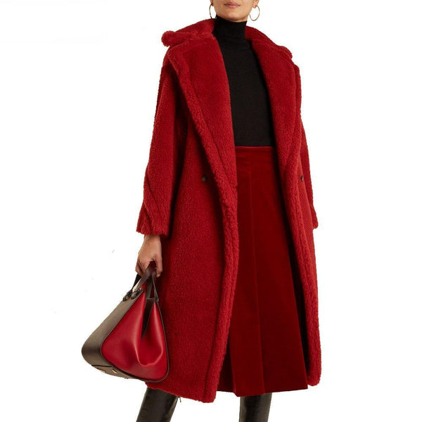 Faux Fur Thick Warm Jacket Curly Teddy Coat Windbreak Long Parka - elatestore
