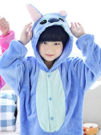 Lilo And Stitch Onesie Unisex Warm Fleece Pajamas Costume-elatestore -elatestore
