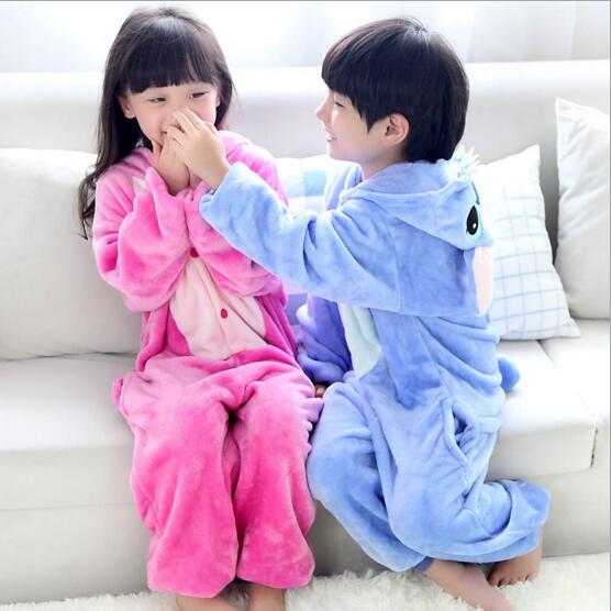 Lilo And Stitch Onesie Unisex Warm Fleece Pajamas Costume