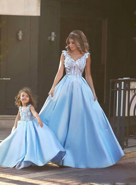 Matching Mother Daughter Clothes Dress Party Mom And Daughter Dress Wedding Formal Clothes Mother Kids Matching Elegant Dresses-elatestore-elatestore