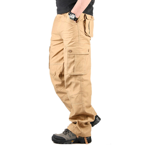 Men's Cargo Pants Casual Men's Pant Multi Pocket Military Overall Men Outdoors High Quality Long Trousers 30 44 Plus Size-elatestore-elatestore