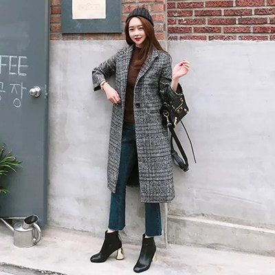 Warm Women Coat Long Single Breasted Parka Outerwear Jacket-elatestore-elatestore