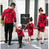 Mother & Kids Camouflage Family Matching Clothes Autumn Korean Mother And Daughter Dress Boys Hoodie Sweater Family Clothes-elatestore-elatestore