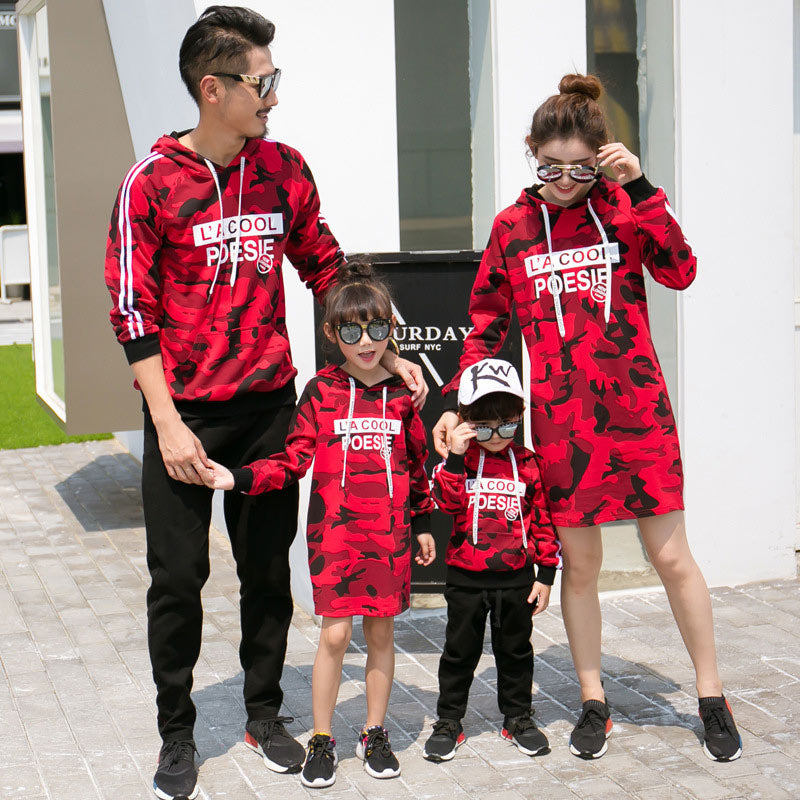 4172edc4 Mother & Kids Camouflage Family Matching Clothes Autumn Korean Mother And  Daughter Dress Boys Hoodie Sweater