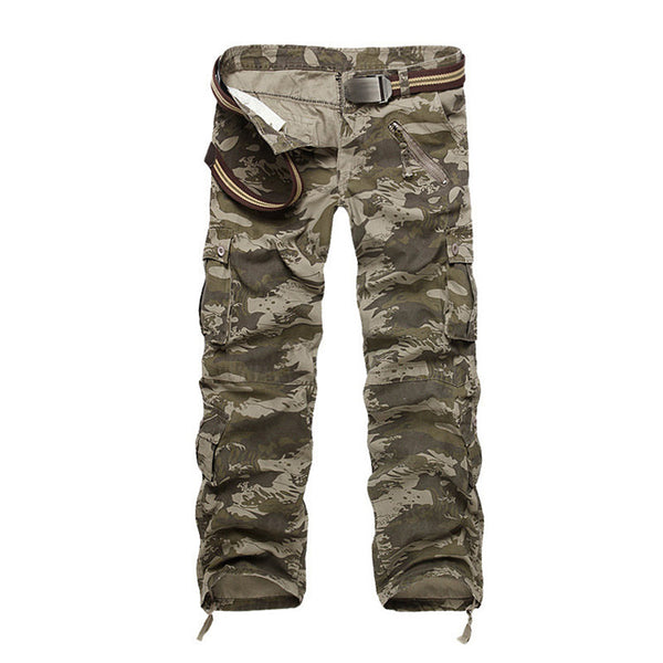 New 2017 Men's Cargo Pants For Men Military Straight Trousers Casual Cotton Camouflage Long Pants Plus Size 28-40 - elatestore