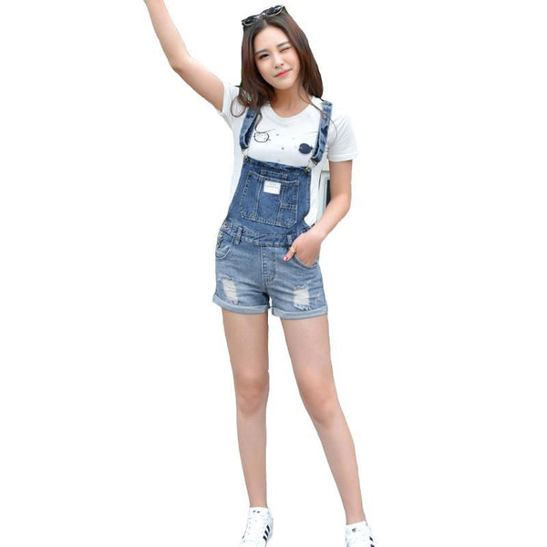brand 2019 Summer Frazzle Denim Shorts Women Slim Strap Short Jeans Pocket Fashion College Wind Women Shorts S Xxl - elatestore