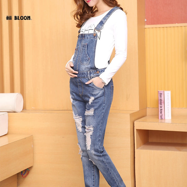 New Jeans Maternity Pants For Pregnant Women Dungarees Clothes Trousers Prop Belly Legging Pregnancy Clothing Bib Overalls Pants - elatestore