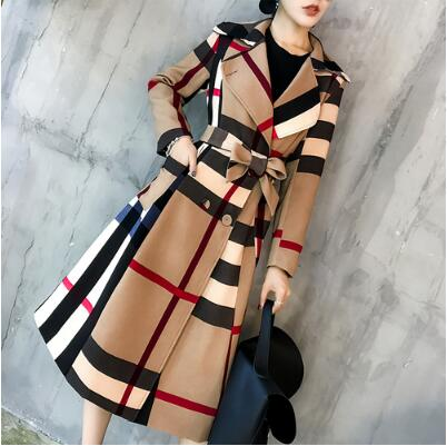 Elegant Double Breasted Windbreaker Trench Coat