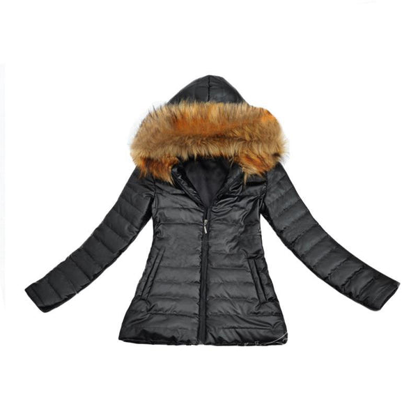 Ultra Light Womens Duck Down Jacket 2017 Winter Hooded Warm Fur Coat 3XL Long Sleeve Goose Down Jacket Doudoune Femme Plus Size