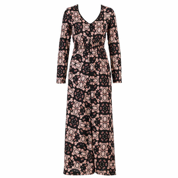 Malvina Elegant Vintage Bohemian Long Floral Dress