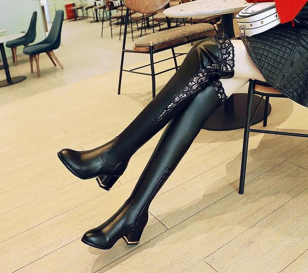 Ksenia Lace High Heels Boot