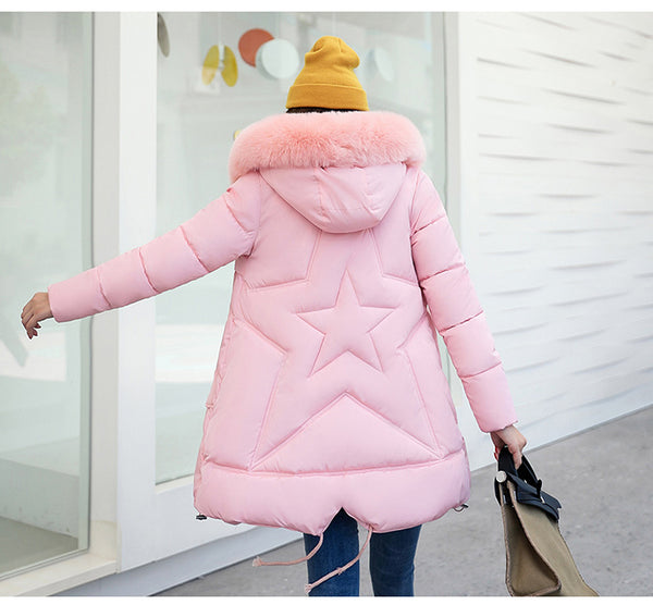 Women Long Hooded Coat Winter Thick Parka Casual Jacket-elatestore-elatestore