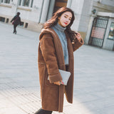 Warm Trendy Jacket Thicken Elegant Coat Casual Hooded Parka-elatestore -elatestore