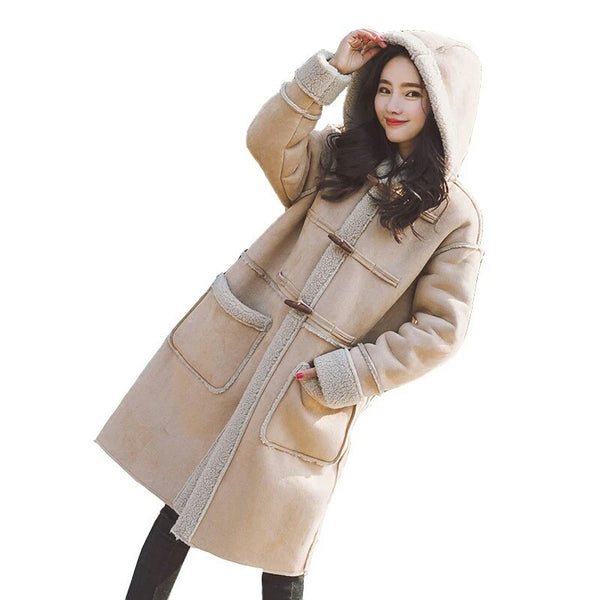 Warm Trendy Jacket Thicken Elegant Coat Casual Hooded Parka