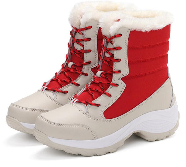 Women Warm Non Slip Waterproof Ankle Snow Boots Thick Fur Shoes-elatestore -elatestore