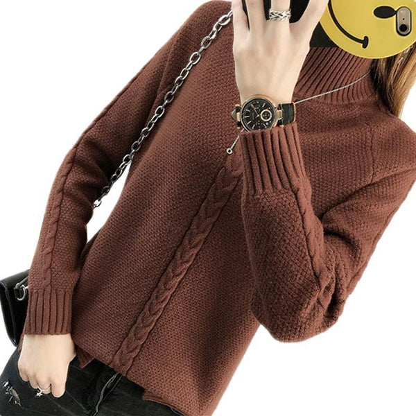 Women's Turtlenecks Warm Tops Sweater Loose Pullovers Jumper