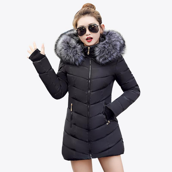 Warm Hooded Thick Coat Slim Parka Down Jacket-elatestore-elatestore