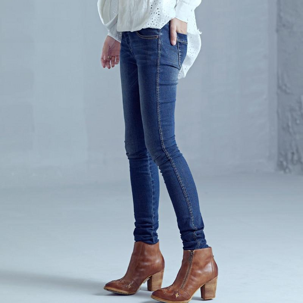 Casual Light Washed Elastic Skinny Straight Jeans - elatestore