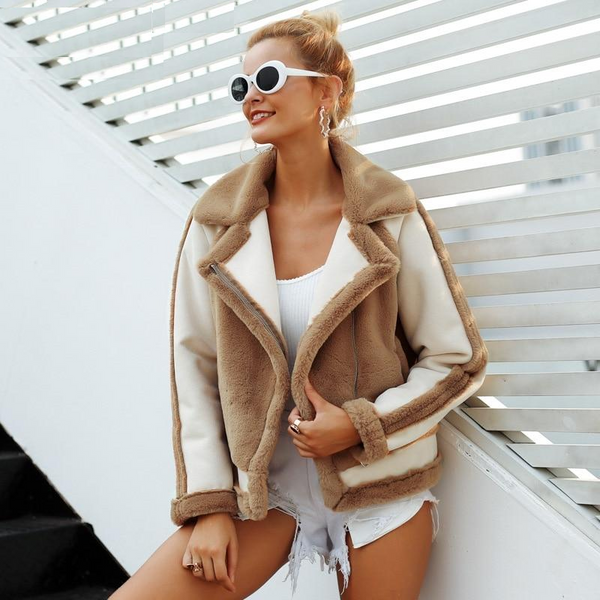 Women Warm Elegant Jacket Faux Fur Coat Plush Overcoat Casual Outwear-elatestore -elatestore