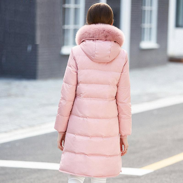 Warm Down Coat X Long Thickening Jacket Real Fox Fur Parka-elatestore-elatestore