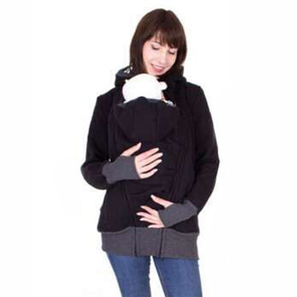 Fashion Style Long Sleeve Mother Autumn Winter Women Hoddies Carry Baby Infant Sweat-shirt Zipper Coat Maternity Warm Clothing-elatestore-elatestore