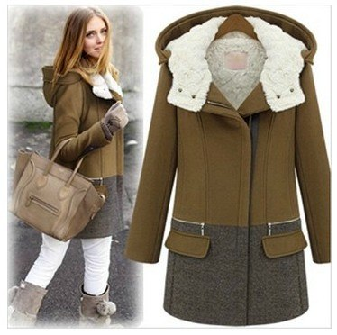 Warm Winter Coat Plus Cotton Thicken Wool Jacket Hooded Trench - elatestore