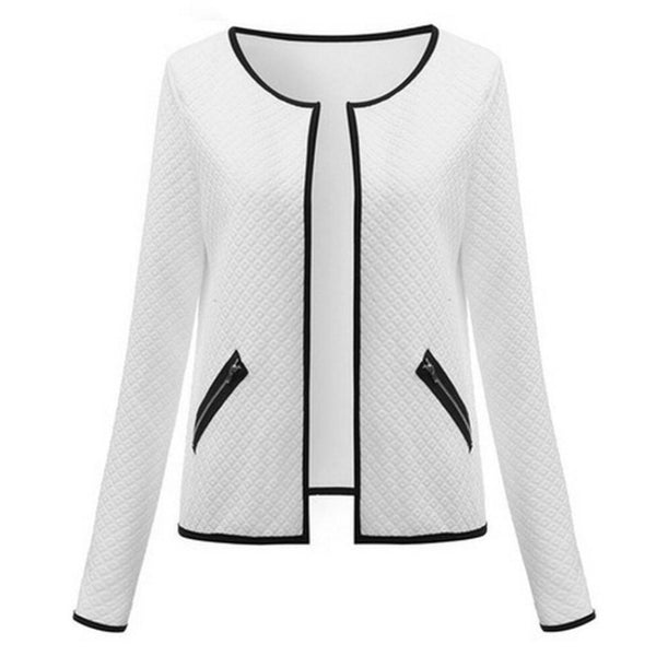 Women Basic Jacket Slim Short Cardigan Casual Outwear Coat-elatestore-elatestore