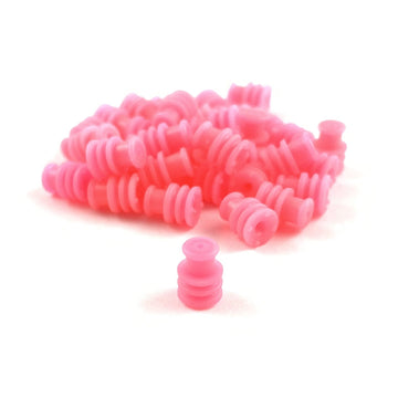 Wire Seal for Bosch EV6 EV14 USCAR Fuel Injector Connector, Pink (1.19-1.65mm)