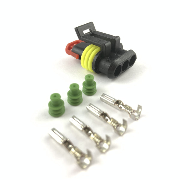 Cummins Diesel 3-Pin Turbo Speed Sensor Connector Plug Clip Kit