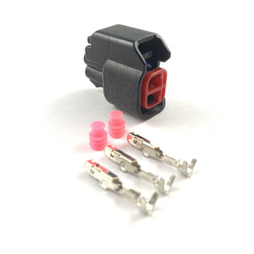 Bosch EV6 EV14 USCAR 2-Pin Fuel Injector Plug Connector Kit ID1300 ID1700
