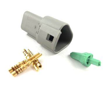 Deutsch DT 3-Way Pin Connector Kit, 20-16 AWG Gold Contacts