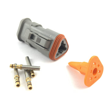 Deutsch DT 3-Way Socket Connector, Kit 20-16 AWG Gold Contacts