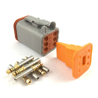 Deutsch DT 6-Way Socket Connector Kit, 20-16 AWG Gold Contacts