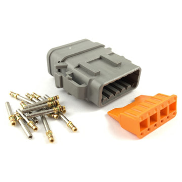 Deutsch DTM 12-Way Socket Connector Kit, 24-20 AWG Gold Contacts