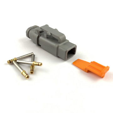 Deutsch DTM 2-Way Socket Connector Kit, 24-20 AWG Gold Contacts
