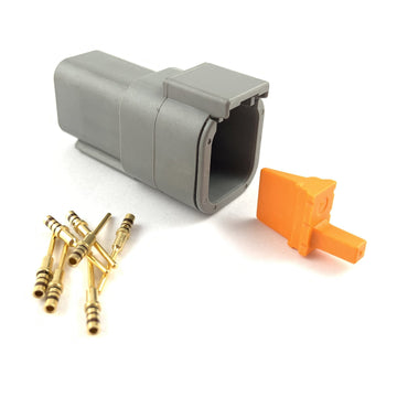 Deutsch DTM 6-Way Pin Connector Kit, 24-20 AWG Gold Contacts