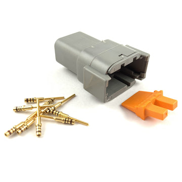 Deutsch DTM 8-Way Pin Connector Kit, 24-20 AWG Gold Contacts
