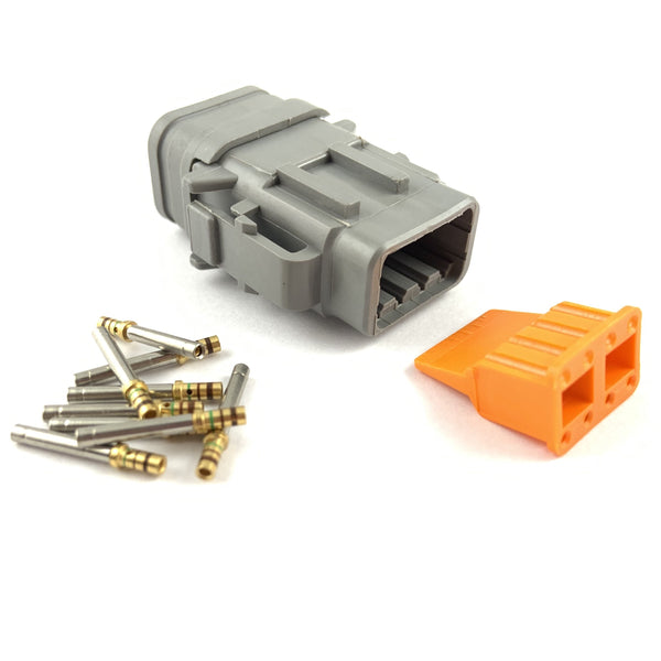 Deutsch DTM 8-Way Socket Connector Kit, 24-20 AWG Gold Contacts