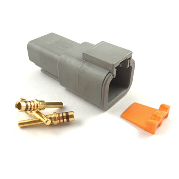 Deutsch DTP 2-Way Pin Connector Kit, 14-12 AWG Gold Contacts