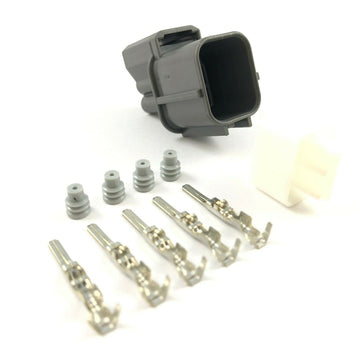 Honda K-Series K20 K24 4-Pin O2 Oxygen Sensor Male Connector Plug Clip Kit