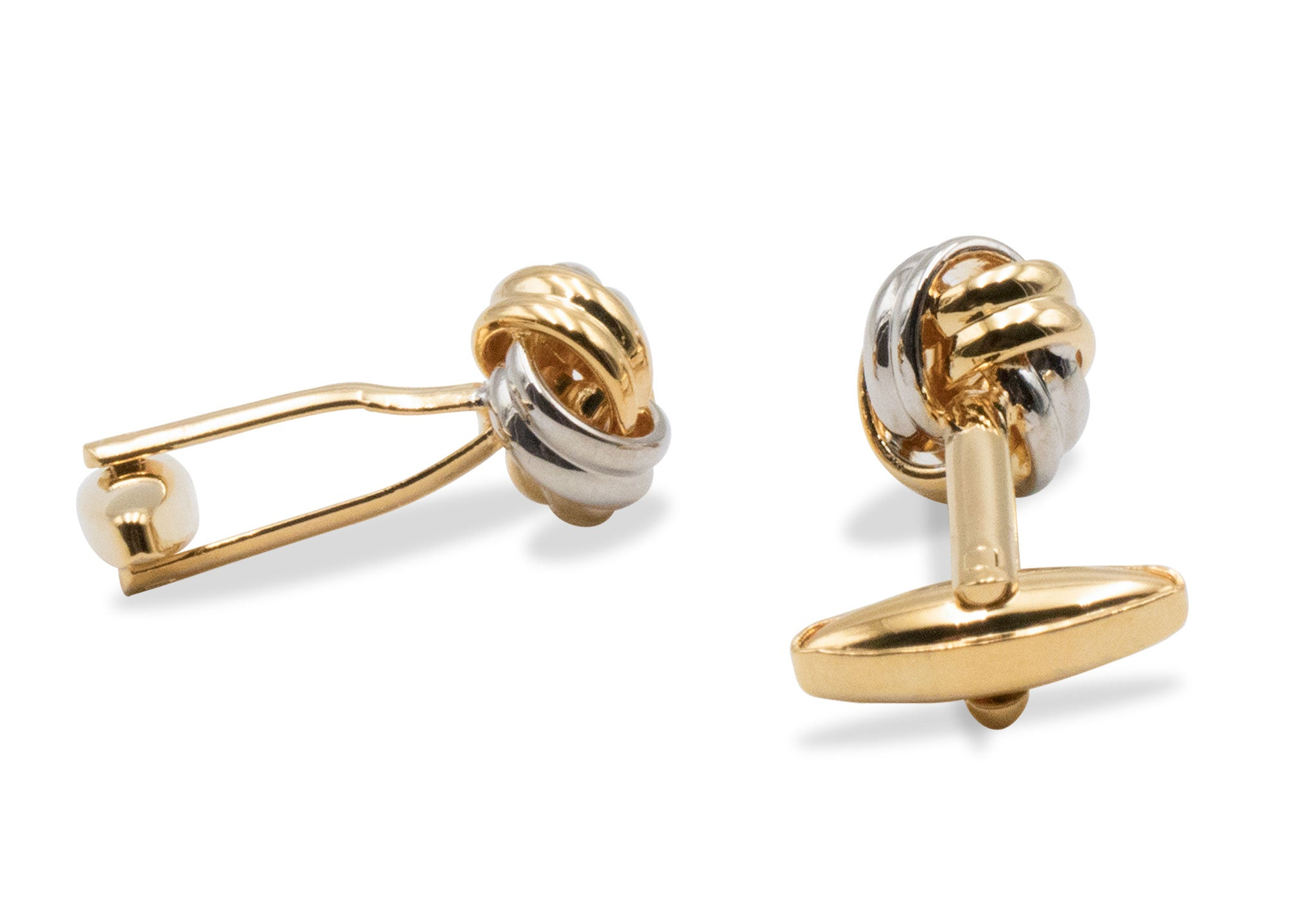 Ojeda II Chrome Knot Cufflinks
